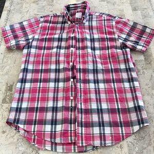 Brooks Brothers plaid button down shirt medium